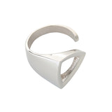 Triangle Open Ring Sterling Silver Mininalistic Geometrical Jewellery