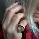Geometric Sterling Silver Triangle Ring Pinky Finger