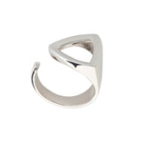 Triangle Geometric Contemporary Modern Sterling Silver Ring
