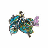 Necklace Brooch Evening Special Event Pronm Jewellry Online Sterling silver Green Enamel Lily