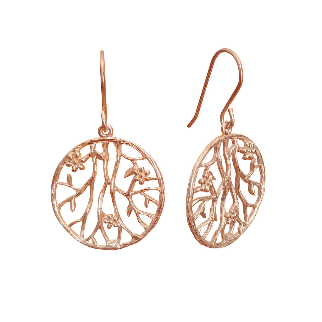 "Earrings ""Prunus Sinensis"""