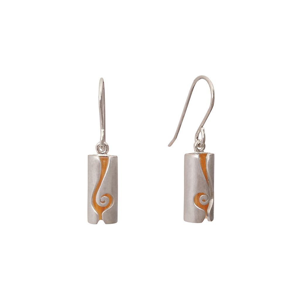 Contemporary Unusual Sterling Silver Tube Earrings Modern Jewellery Online Store Australia