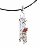 Pendant Necklace Sterling Silver With Garnet Enchanted Forest Contemporary Jewellery Online Store