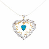 Deep in the heart pendant necklace topaz