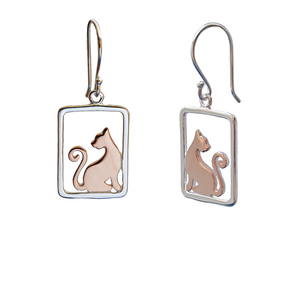 Cats Sterling Silver Earrings Trezoro Online Jewellery
