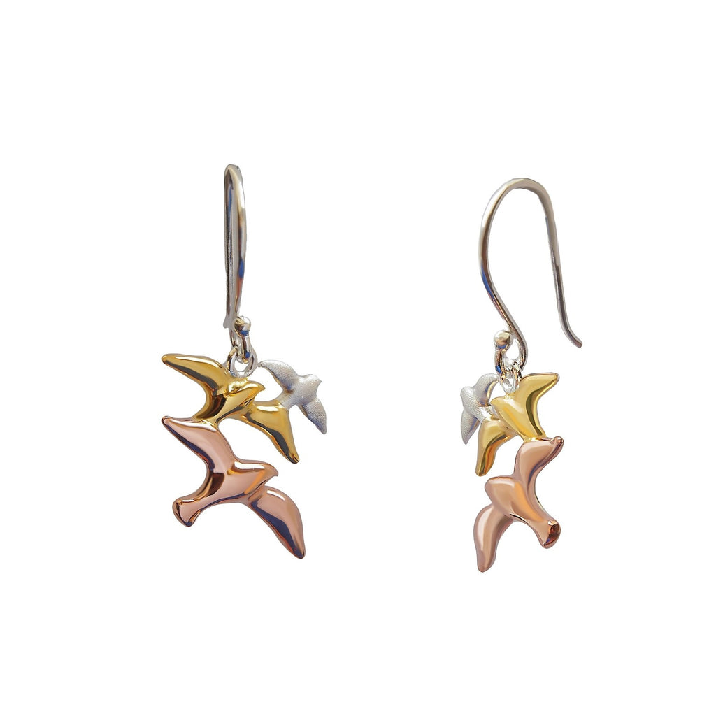 Seagulls Earrings Sterling Silver Gold Plated Jewellery Online