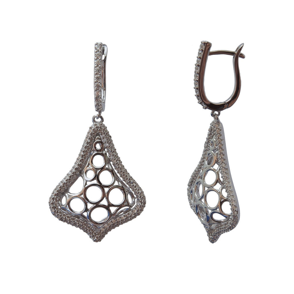 Soho Earrings Sterling Silver with Cubic Zirconia - Trezoro Jewellery Online Store