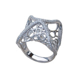 Soho Statement Ring Modern Design Sterling Silver Cubic Zirconia Trezoro Jewellery Online Store