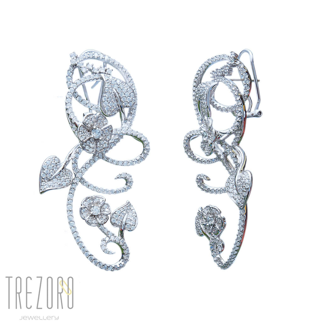 Bridal Earrlings Sterling Silver CZ - Love is in Air - Trezoro Jewellery Online Store