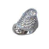 Ring Modern Design Euphoria Sterling Silver CZ - Trezoro Jewellery Online Store