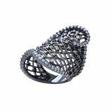 Unique Designer Contemporary Ring Sterling Silver Black CZ - Jewellery Shop Online