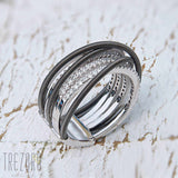Modern Design Sterling Silver and Cubic Zirconia Ring Only You- Trezoro Jewellery Online Store