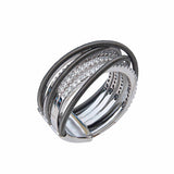 Contempirary Style Sterling Silver Statement Ring Only You - Unusual Jewellery Online
