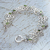 Bracelet Sterling Silver with Natural Peridots Early Morning  Trezoro Jewellery Online Store
