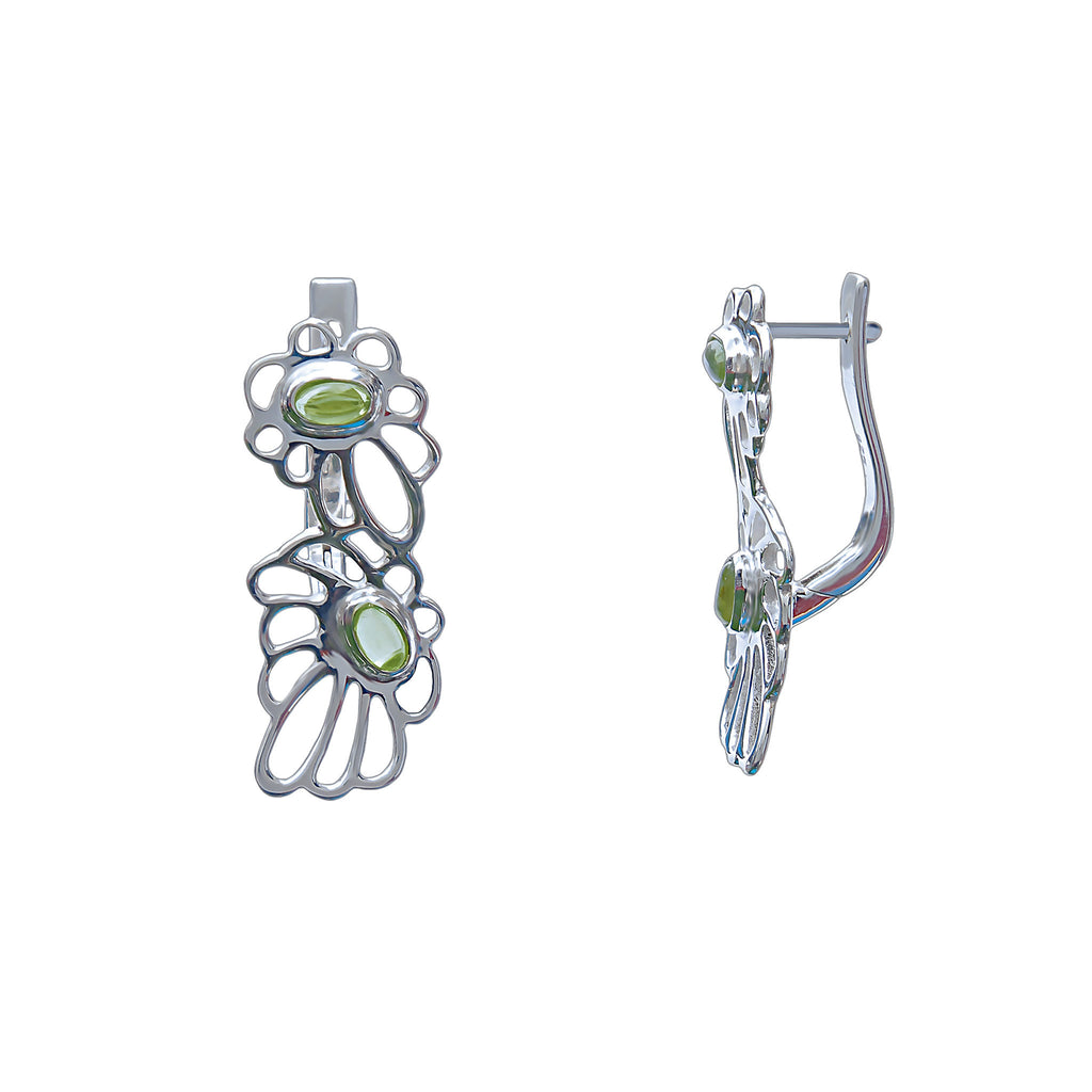 Early Morning Earrings Sterling Silver Natural Peridot -  Trezoro Jewellery Online Store
