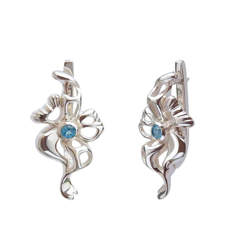Topaz Earrings Sterling Silver Midnight Jazz Trezoro Jewellery Online Store