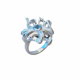 Cocktail Ring Midnight Jazz Sterling Silver With Blue Topaz Gemstone Trezoro Online Store