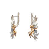 Fly me to the Moon Designer Earrings. Sterling Silver 14kGold Trezoro Jewellery Online Store