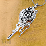 Deep Wide Ocean Sterling Silver Large Pendant Necklace - Trezoro Jewellery Online Store