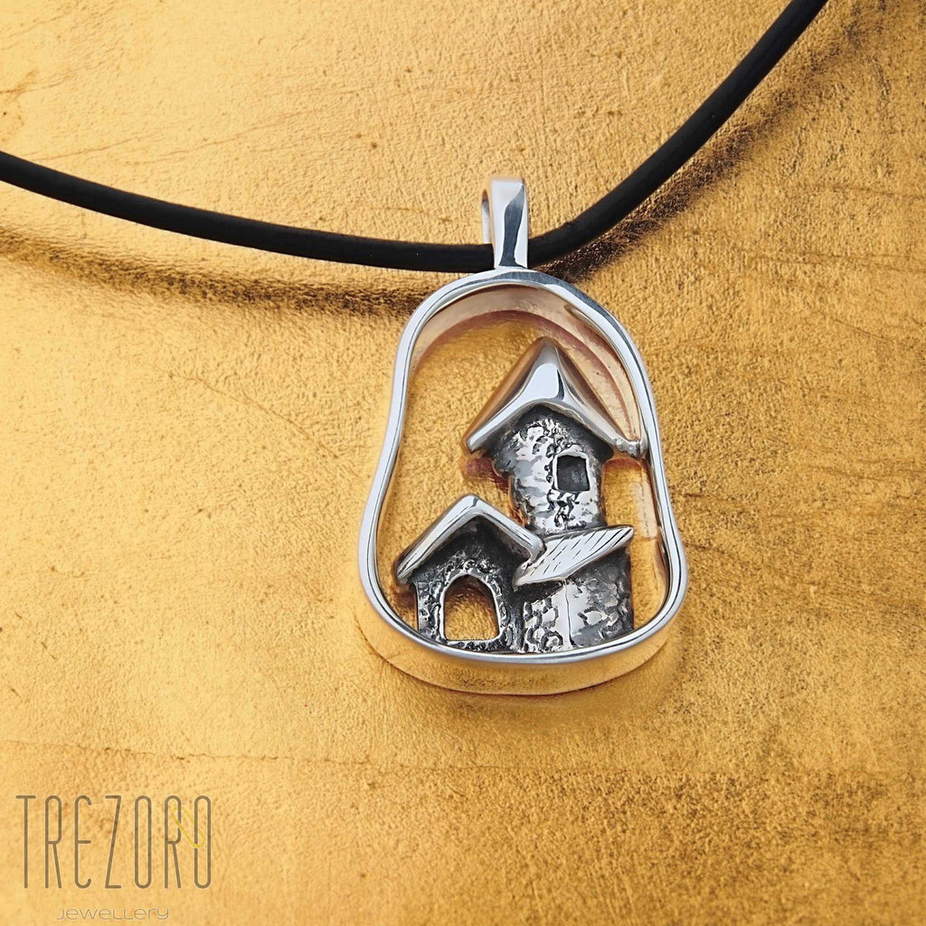 Sterling Silver Pendant Necklace Le Chateau - Trezoro Jewellery Online Store