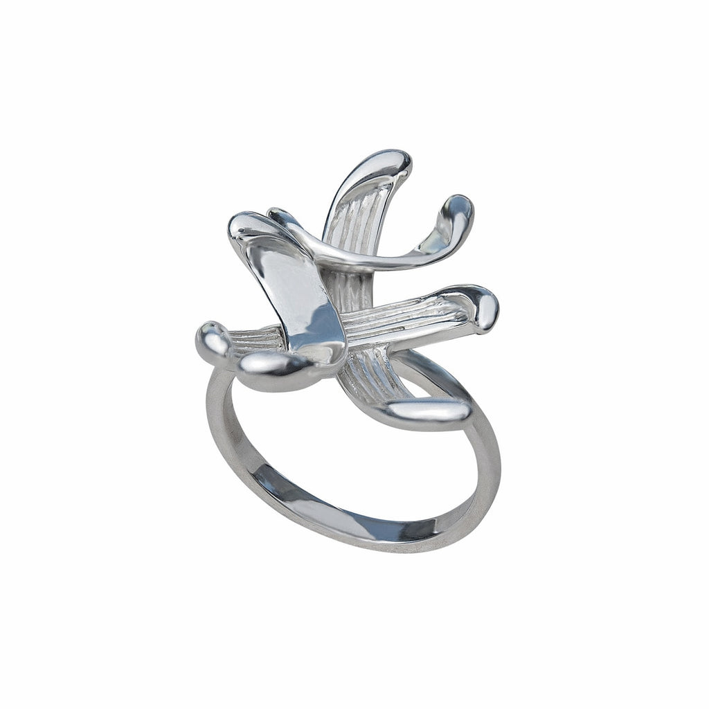 Ring Sterling Silver Elegant Foxtrot Contemporary Unusual Jewellery Online Store Aurstralia