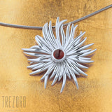 Necklace Pendant Sterling Silver Natural Garnet Sun Dance - Trezoro Jewellery Online Store