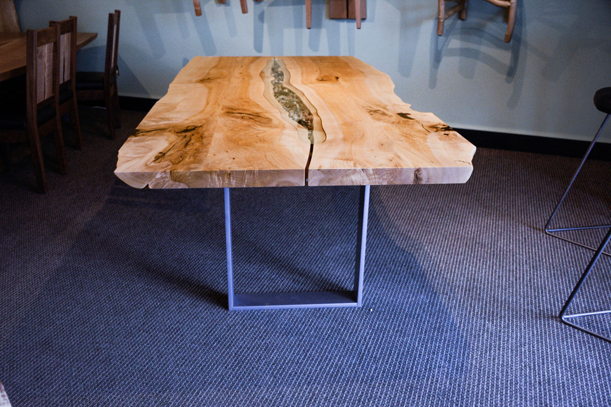 Tidepool dining table with Blackcomb base