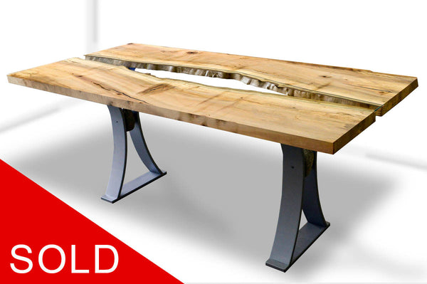 SOLD Silver Maple dining table