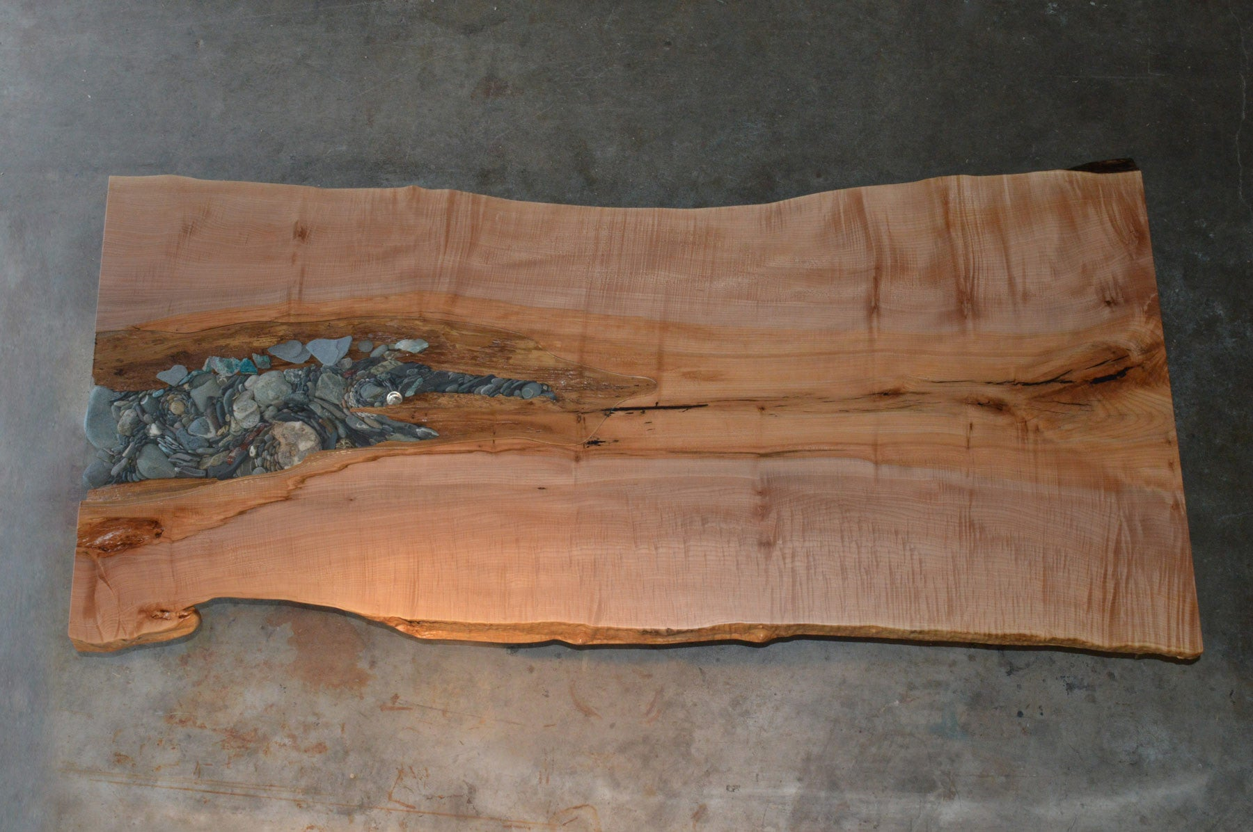 Ancient Live Edge Dining Table