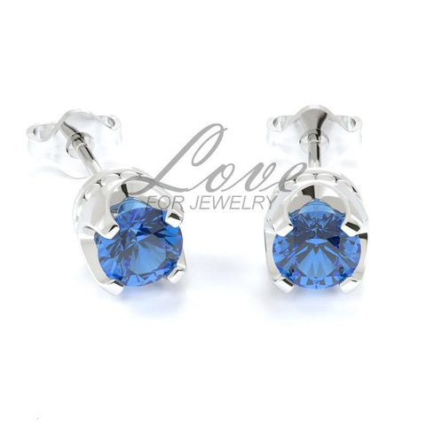 Crown Earrings - Capri Blue