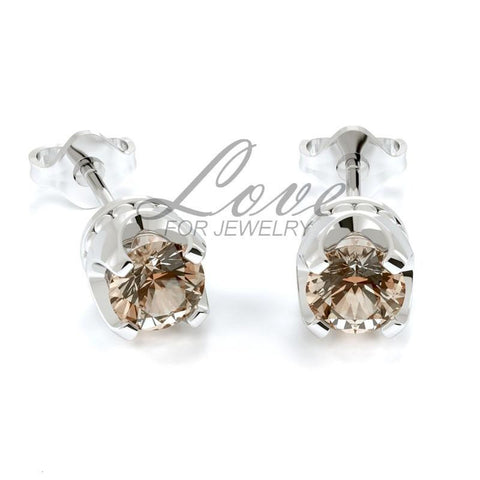 Crown Earrings - Light Peach