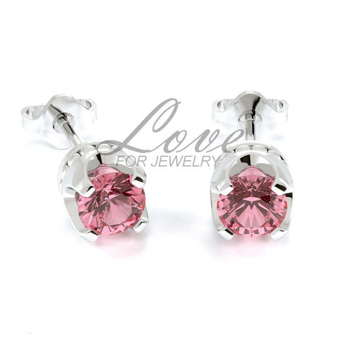 Crown Earrings - Light Rose