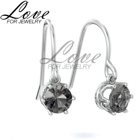 Hook Earrings - Black Diamond