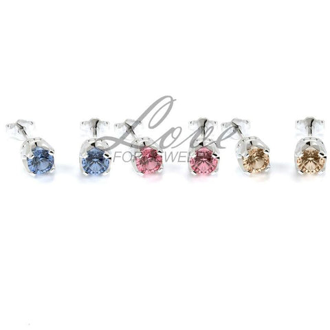 Crown Earrings Set - Pastel Series