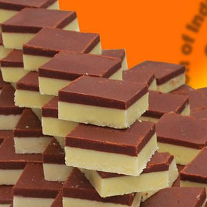 Chocolate almond burfi (10 oz)