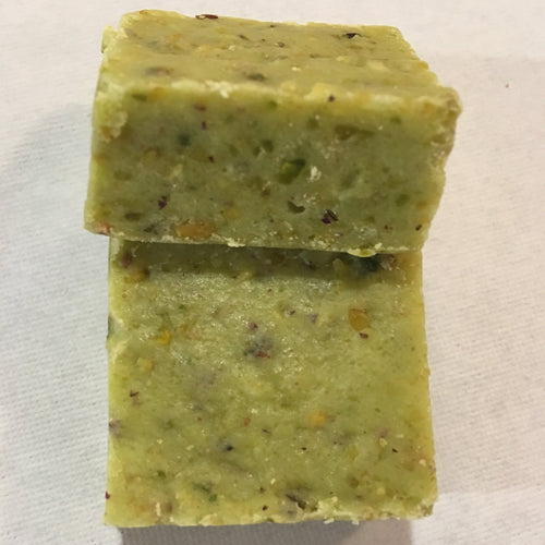 Pure Pista burfi, pistachio chocolate fudge for indian wedding