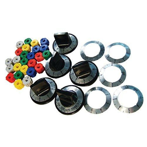 PART # KN002 GENUINE FACTORY OEM ORIGINAL UNIVERSAL ELECTRIC RANGE OVEN KNOB KIT (REPLACES PART NUMBER TJKN002 AND RK103)