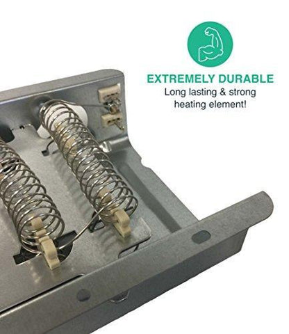 Replacement for Whirlpool Dryer Heating Element Fits Kenmore, Maytag, Compatible With Part # 3403585, 8565582, PS3343130 & AP3094254, by Think Crucial