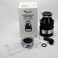 Whirlpool GC1000XE 1/3 hp in Sink Disposer, Black