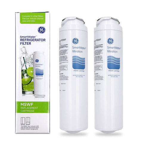 (2 Pack) GE MSWF Refrigerator Water Filter Replacement Cartridge