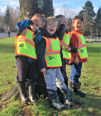 Real safety gear keeps kids safe and visible on field trips and outside in public areas