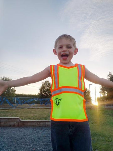 Kids agree: This is the most awesomest child safety vest ever