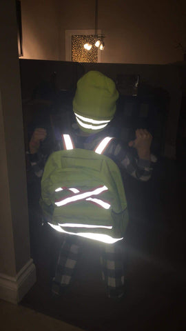 Ya, our kids' high viz toque is reflective.