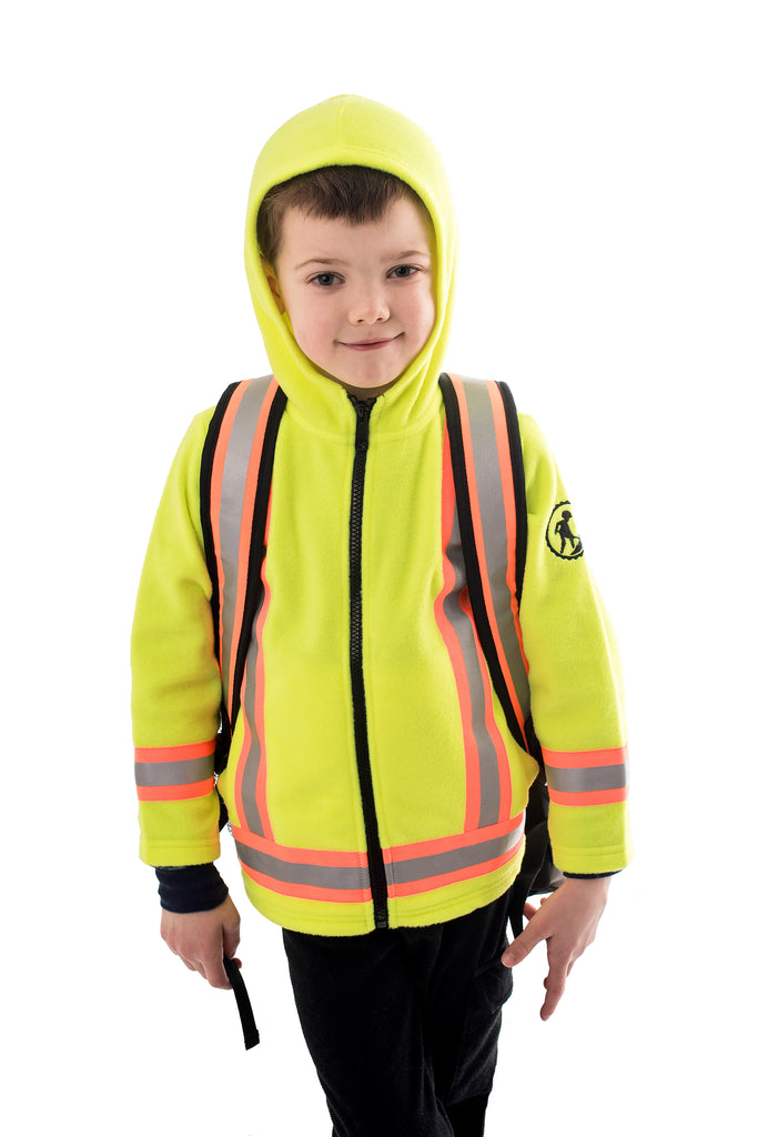 Hi Viz Kids' Safety Backpack - yellow