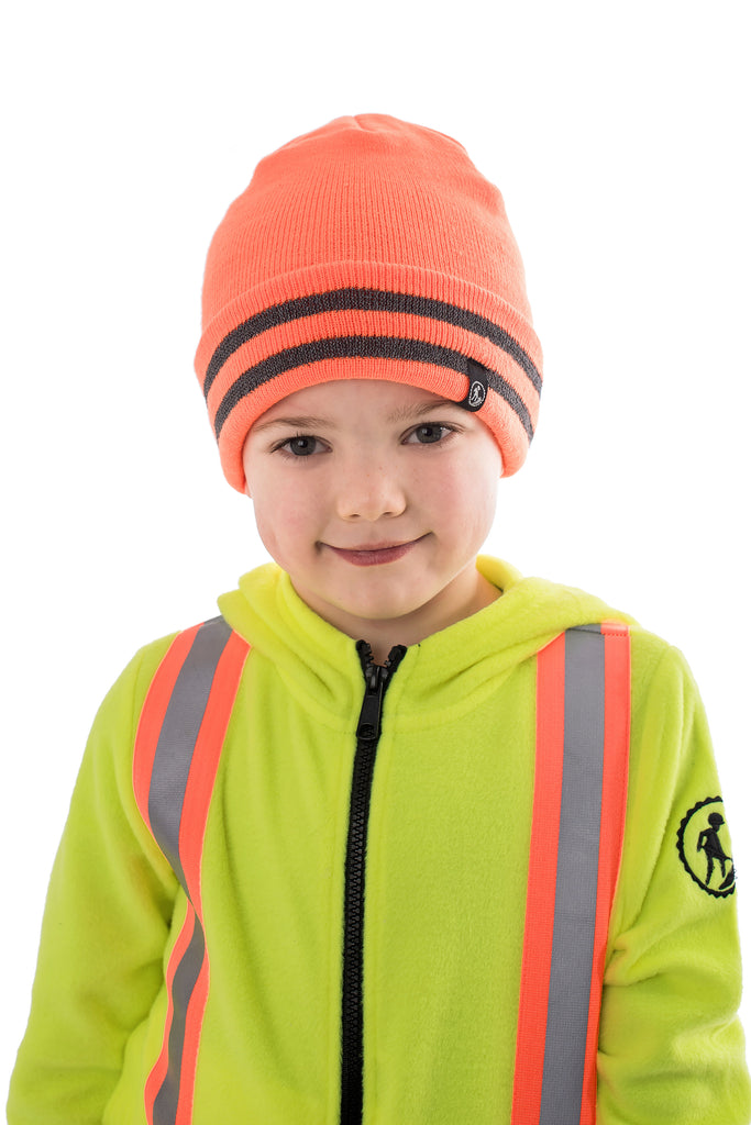 Hi Viz Kids' Safety Toque - orange