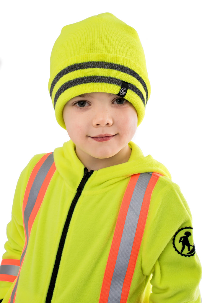 Hi Viz Kids' Safety Toque - yellow