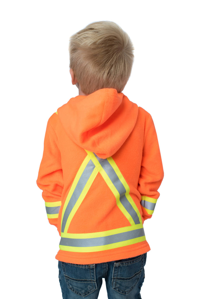 Hi Viz Kids Safety Fleece Orange