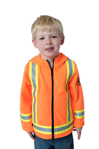 High Viz Kids' Fleece Safety Hoodie