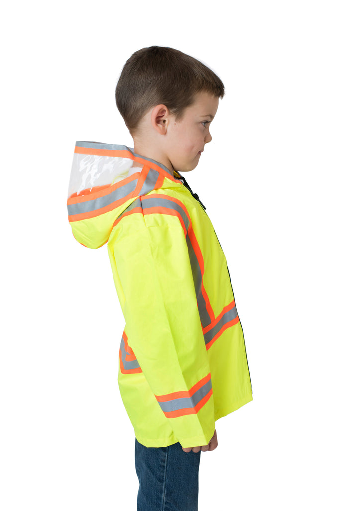 Gen 1 Hi Viz Kids Safety Rain Jacket Yellow