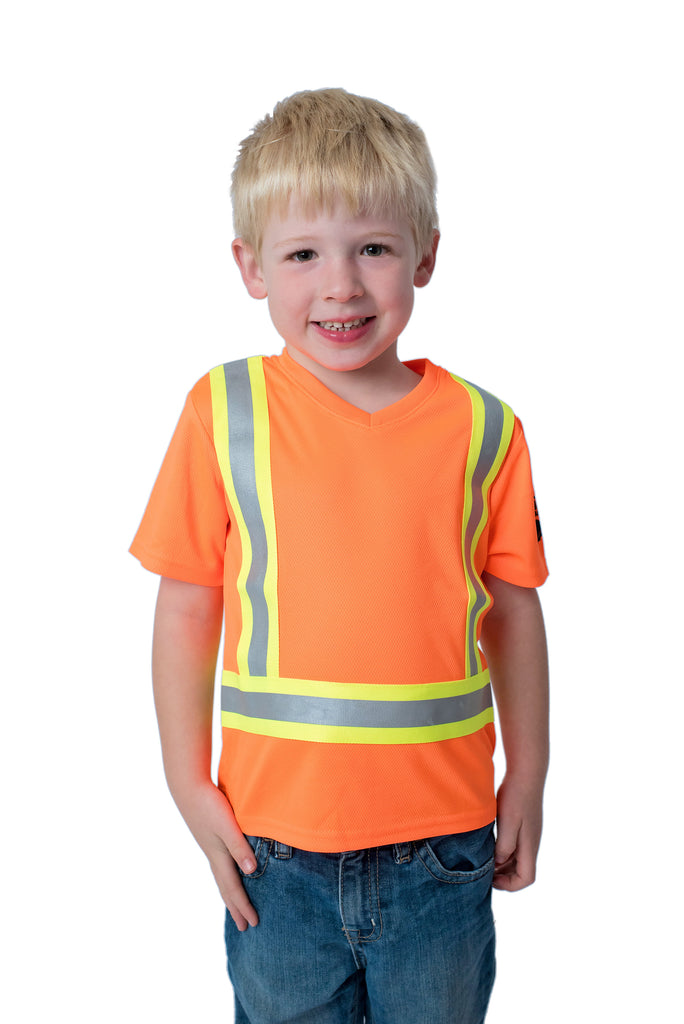 High Viz Kids' Safety Shirt Orange